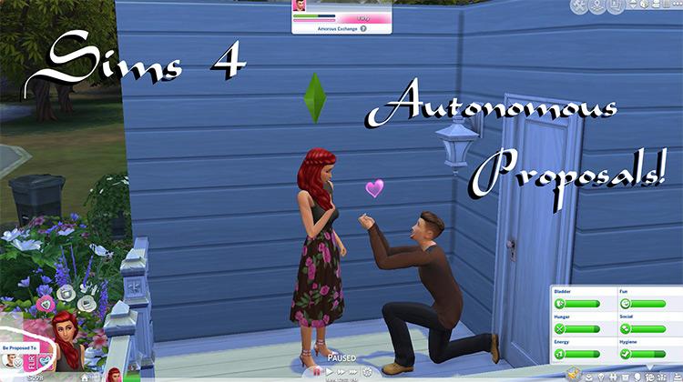 Autonomous Proposals Sims 4 mod