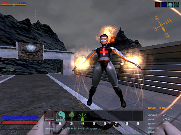 DungeonDoom Doom 3 Mod Silver woman