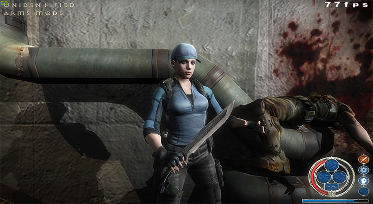 Rivensin Doom 3 Mod in-game character screenshot