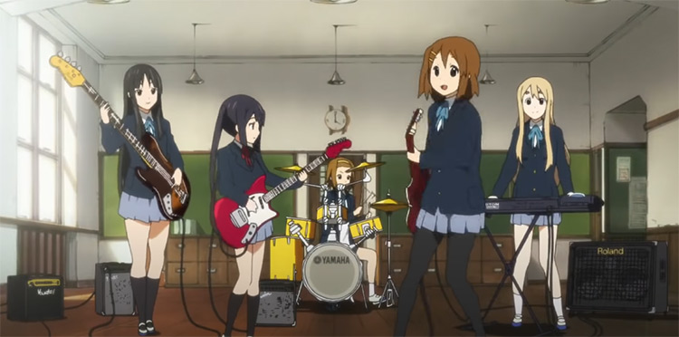 K-On! Anime girls in a band