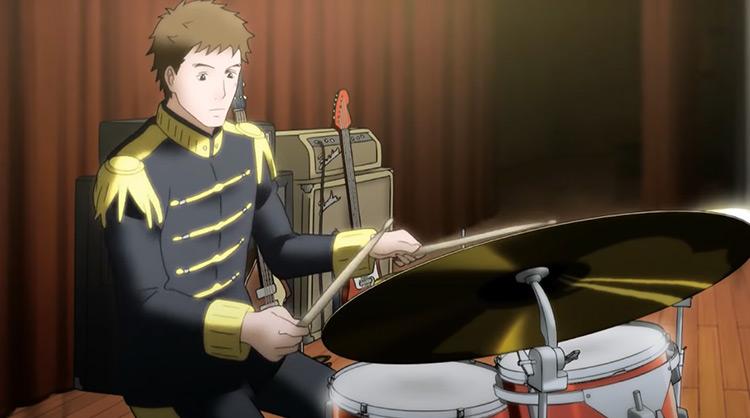Boy playing drums Sakamichi no Apollon Anime