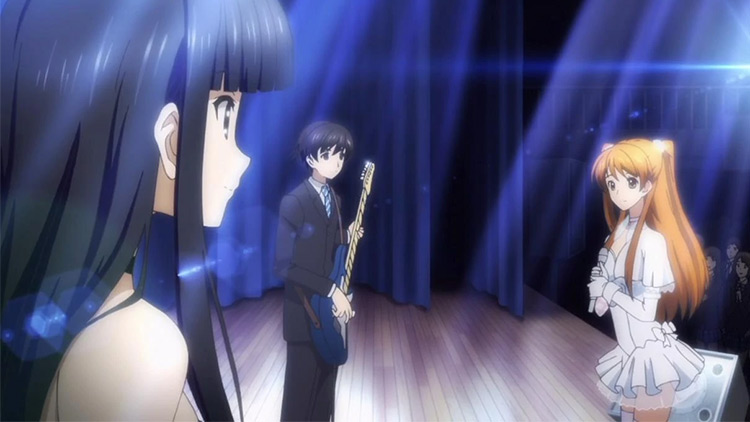 White Album 2 characters playing in stage
