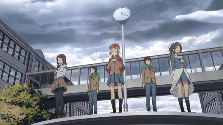 Students singing in Tari Tari Anime