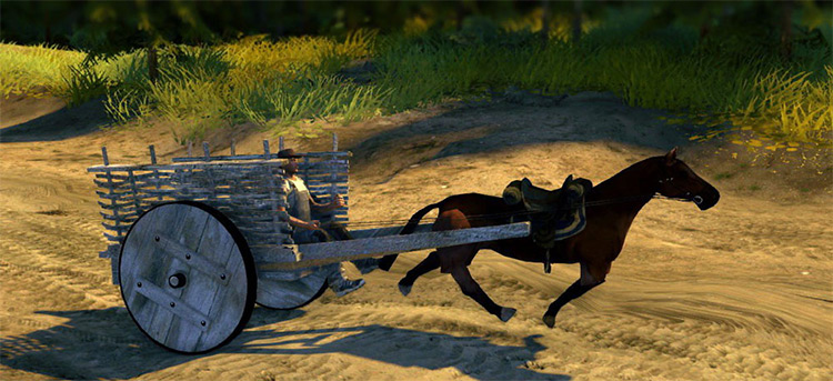 Horse With Cart Spintires Mod
