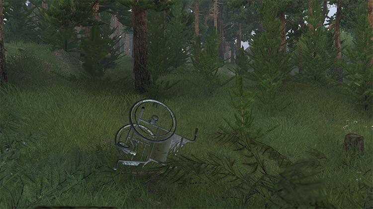 Rusty Wheelchair Spintires Mod screenshot