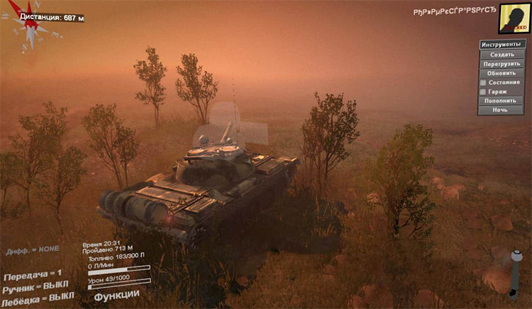 Tanks of Russia Pack 01 Spintires Mod gameplay screenshot