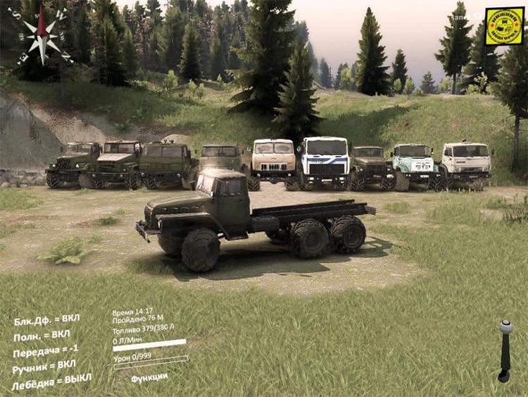 Mod Pack Spintires  Trucks gameplay screenshot