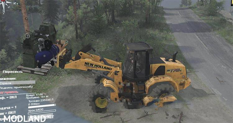 Drunken Movers Spintires Mod gameplay screenshot