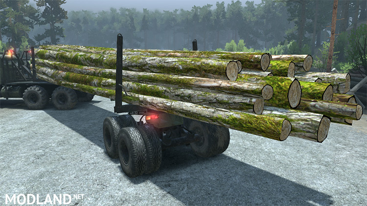 Texture log with moss Spintires Mod