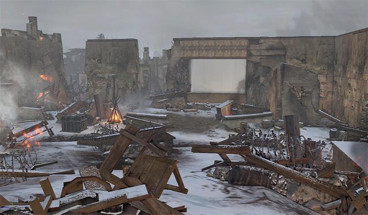Iron Hearts Company of Heroes 2 Mod ruins screenshot