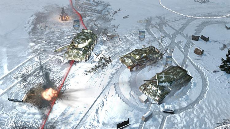 Arctic Storm Winter Skin Pack Mod Tank gameplay