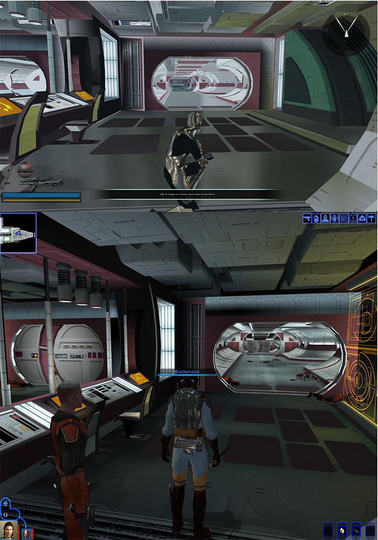 SWB II : KOTOR Mod area comparison