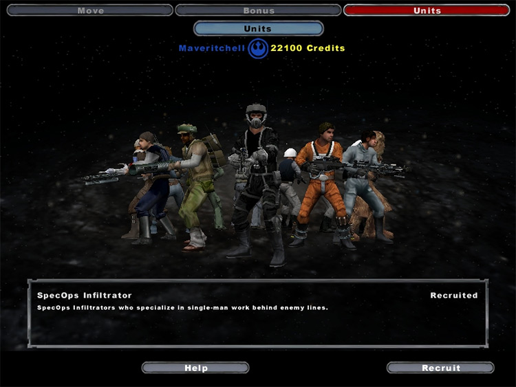 The Dark Times Mod unit recruitment screenshot