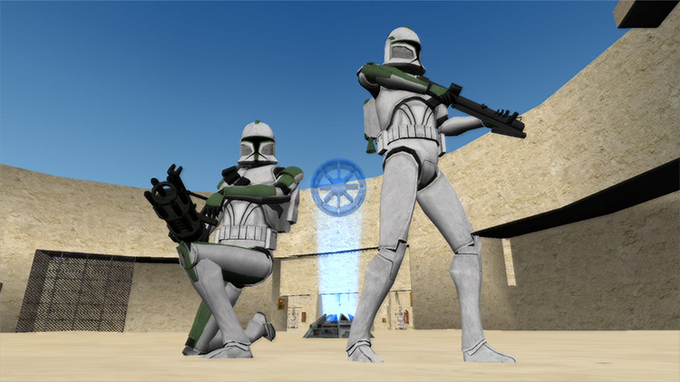 Battlefront: The Clone Wars Mod characters with guns