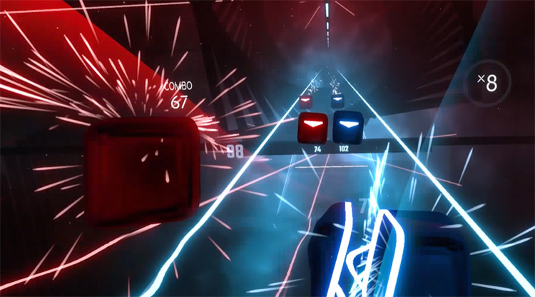 Gangnam Style – PSY Beat Saber gameplay screenshot