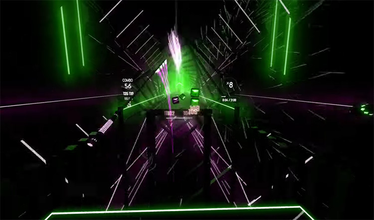 Fuji Opener Beat Saber gameplay screenshot