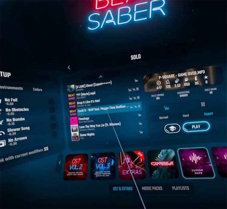 Wet A** P**** - Cardi B ft. Megan Thee Stallion Beat Saber screenshot