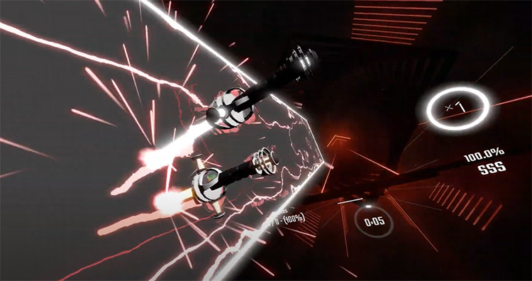Kung Fu Fighting Beat Saber gameplay screenshot