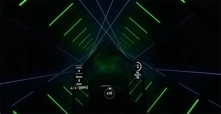 Cheeki Breeki Hardbass Beat Saber gameplay screenshot