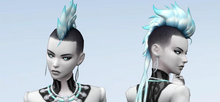 Mohawk hairdo CC for Sims 4