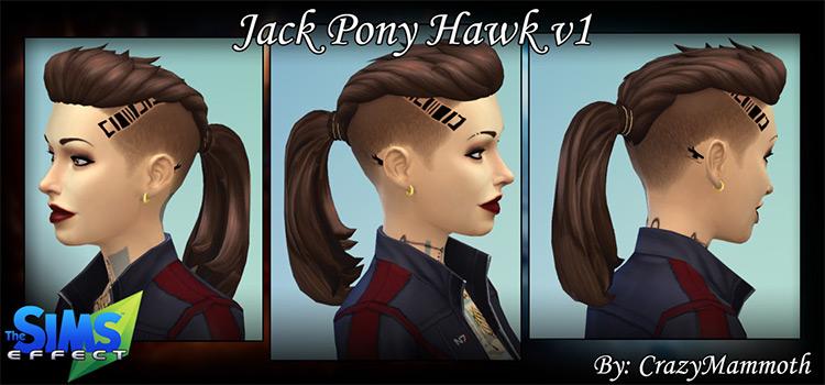 Jack Pony Hawk Hair CC