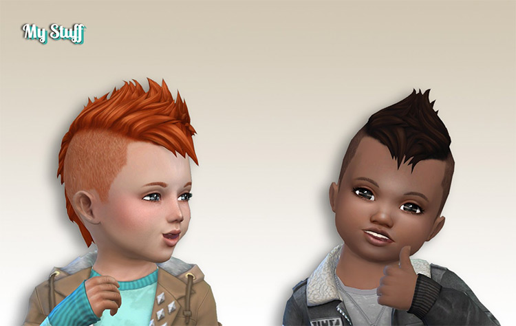Undercut Mohawk for Toddlers - Sims 4 CC