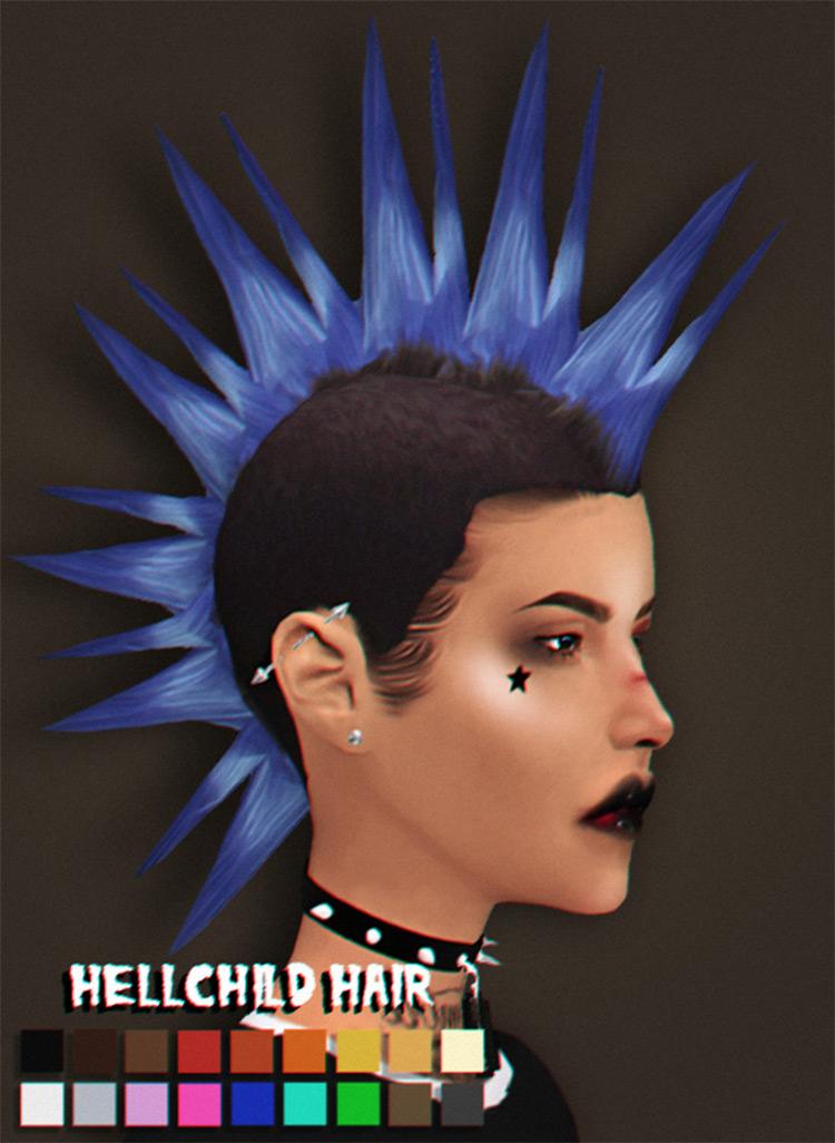 Hellchild Hair - Mohawk-Style CC