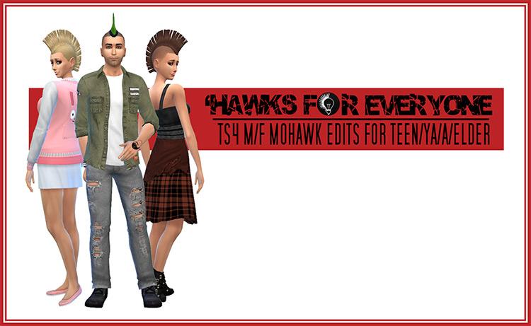 Hawks for Everyone - Sims 4 Hairdo