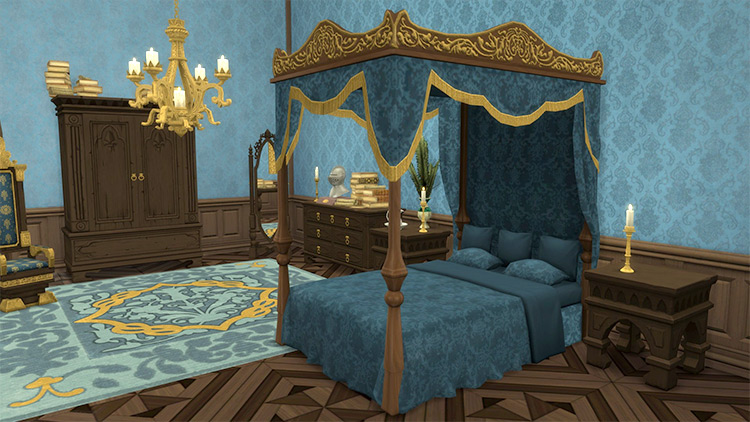 French Canopy Bed Sims 4 CC
