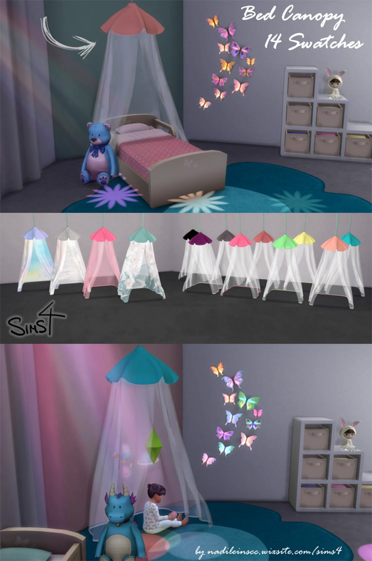 Dreamer Bed Canopy Custom Content for TS4