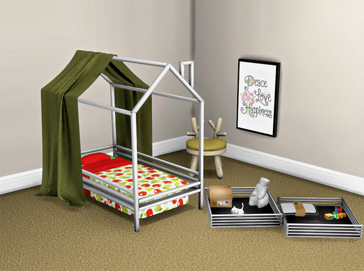 Toddler Bed and Canopy CC
