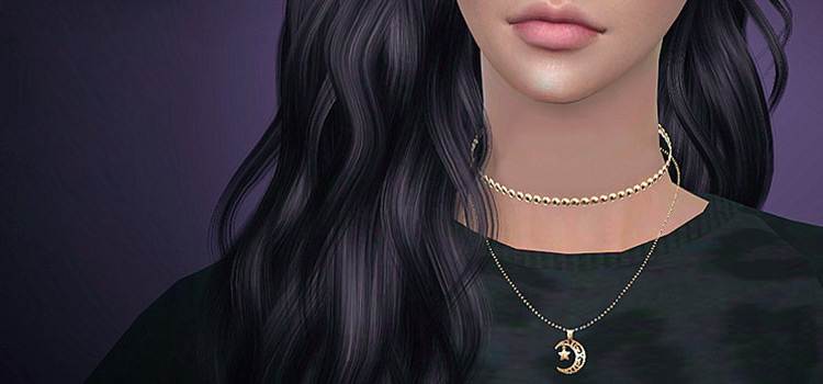 Sims 4 SClub Moon Necklace CC