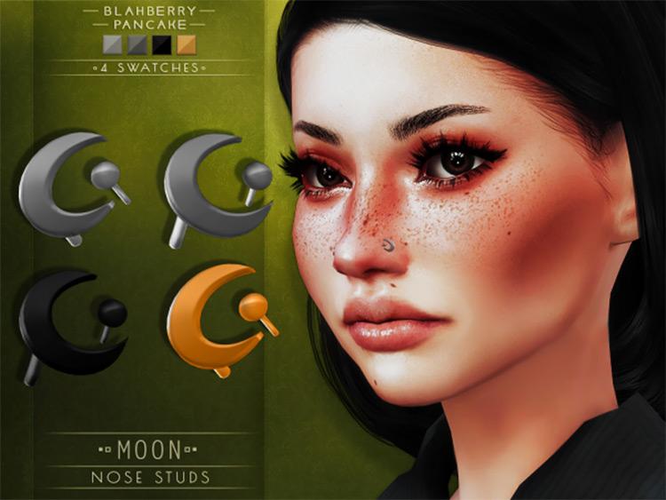 Moon Nose Studs - TS4 CC