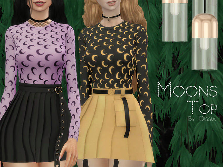 Moons Top shirts for Sims 4