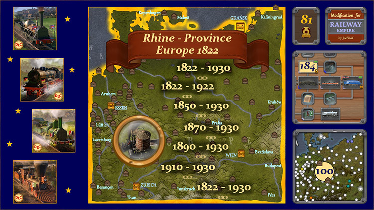 Rhine Province – Europe mod for Railway Empire