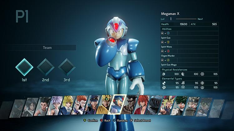 X (Megaman X) Jump Force mod screenshot