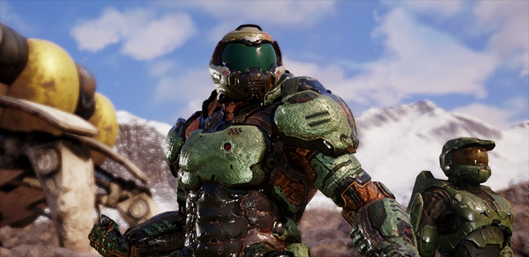 Doom Guy By Silver mod for Jump Force game