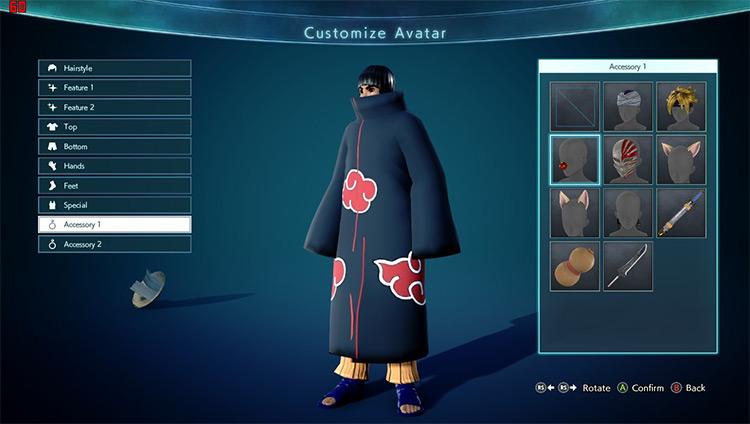 Akatsuki Cloak & Hat mod for Jump Force game