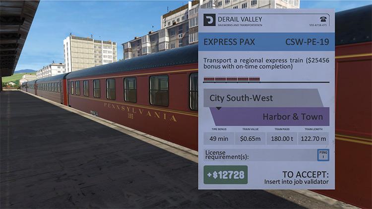 Passenger Jobs Derail Valley mod screenshot