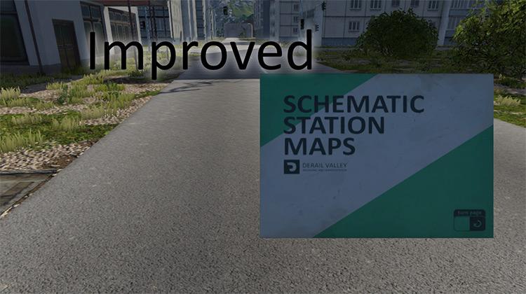 Enhanced Schematics Map Derail Valley mod