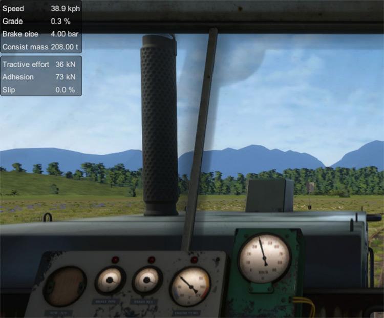 Heads-up Display Derail Valley mod screenshot
