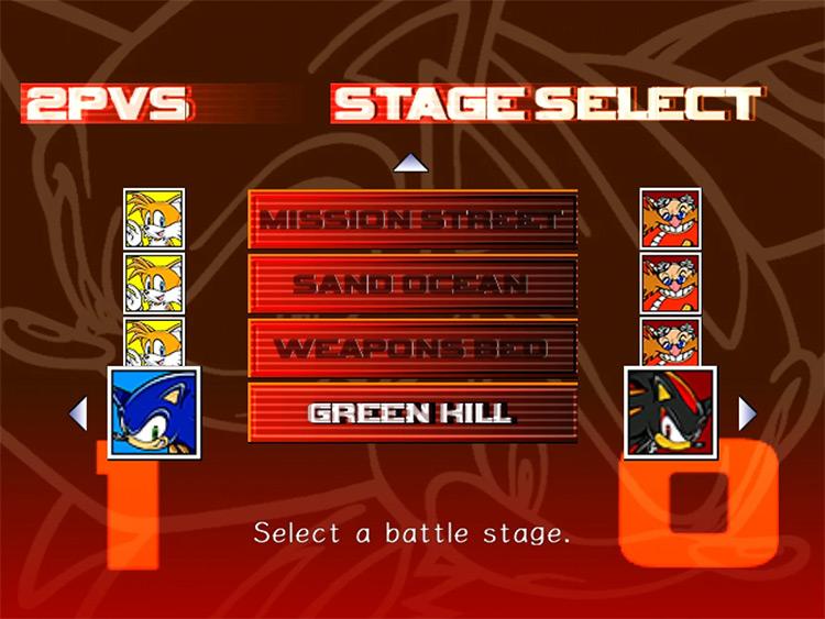Menu Overhaul Sonic Adventure 2 mod