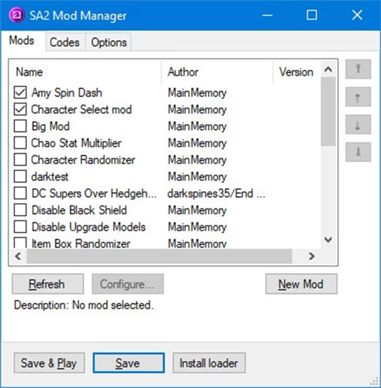 SA2 Mod Loader screenshot