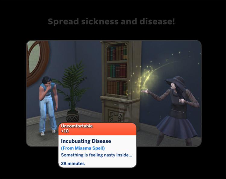 Forbidden Spells CC for Sims 4