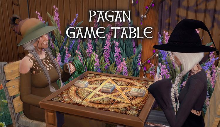 Pagan Game Table Sims 4 CC