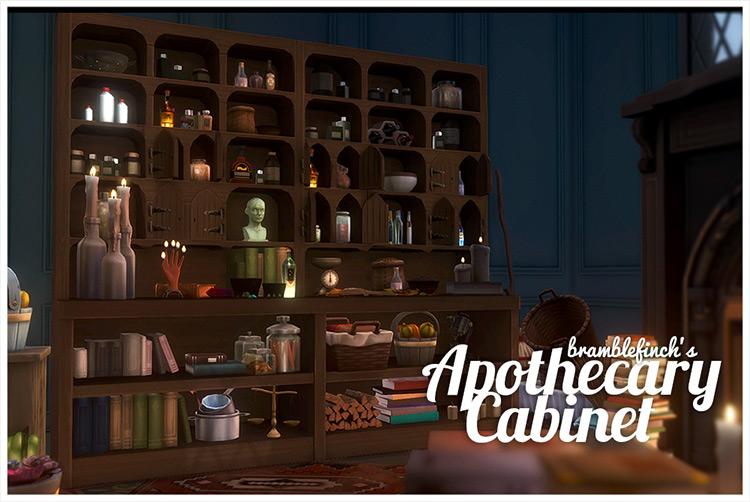 Apothecary Cabinet Sims 4 CC screenshot