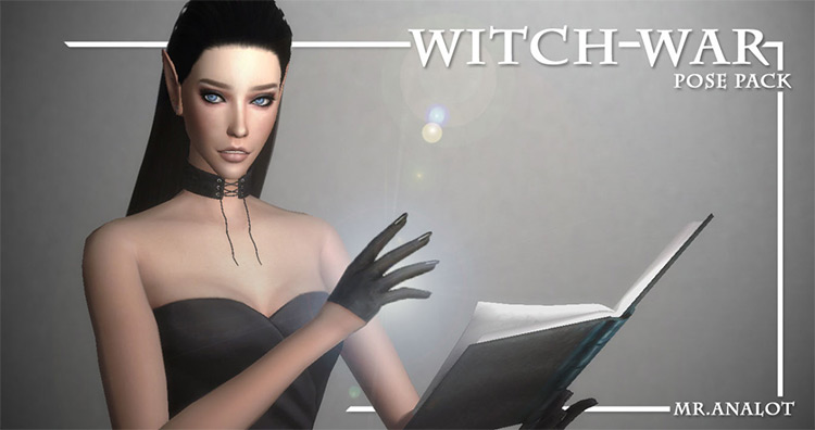 Witch War Poses Pack Sims 4 CC