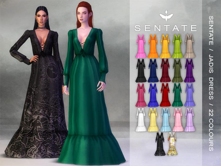 Jadis Dress Sims 4 CC screenshot