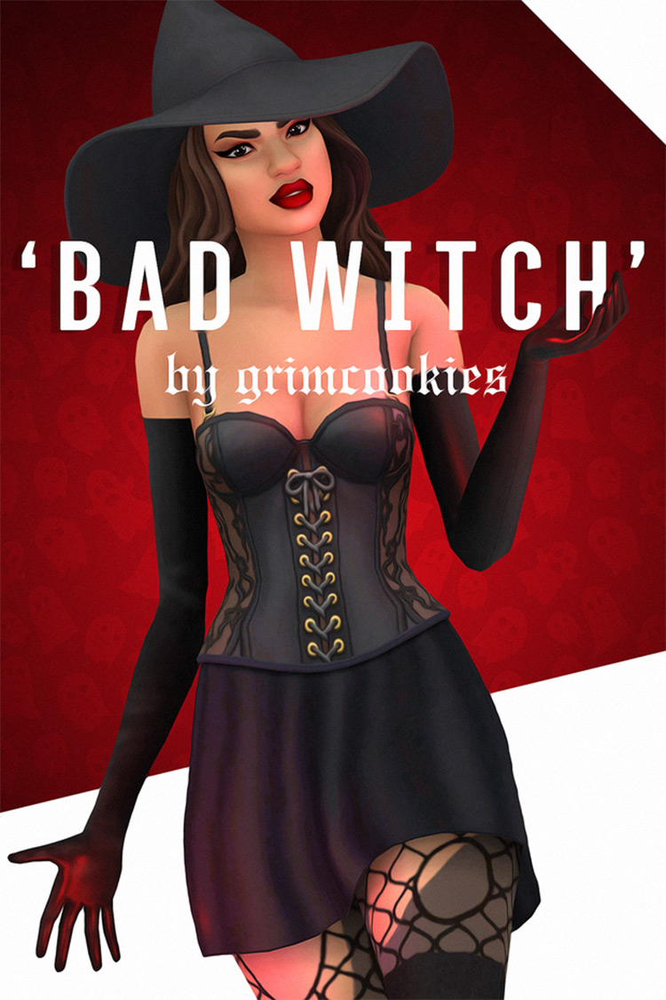 Bad Witch CC for Sims 4