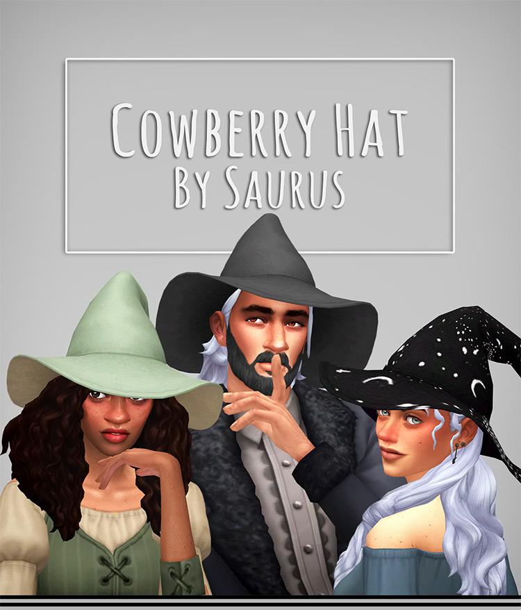 Cowberry Hat Sims 4 CC screenshot